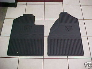 02 08 Dodge Ram New All Weather Slush Mats Set Front Mopar Slate Oem