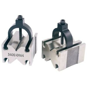 Toolmaker s V blocks With Slot in Clamp 3402 0964 Made In Taiwan