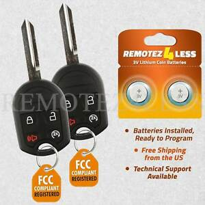 2 Replacement For Ford F 150 250 350 450 Super Duty Keyless Remote Car Key Fob
