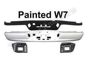 Painted White Rear Bumper Face Bar Pad Out Bracket For 02 08 Ram 1500 2500 3500
