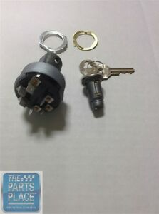 1966 67 Pontiac Gto Lemans Ignition Switch With Key Tumbler 6 Prong