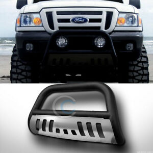Fits 98 11 Ford Ranger Matte Blk ss Skid Bull Bar Brush Push Bumper Grille Guard