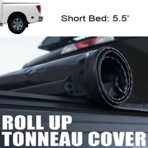 Roll up Soft Tonneau Cover For 04 15 Nissan Titan Crew Cab 5 5 Ft 66 Short Bed