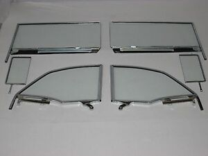 55 56 57 Chevy Pontiac Convertible Clear Vent Door Quarter Glasses Assembled