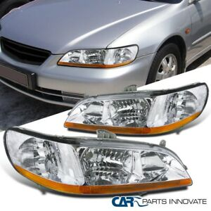 For 98 02 Honda Accord 2 4 Dr Clear Lens Headlights Head Lights Lamps Left right