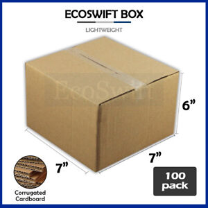 100 7x7x6 Cardboard Packing Mailing Moving Shipping Boxes Corrugated Box Cartons