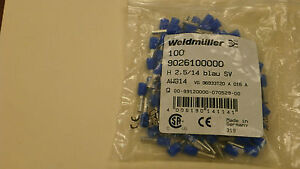 Weidmuller 9026100000 New Blue Wire End Ferrules 14 Awg Qty 479