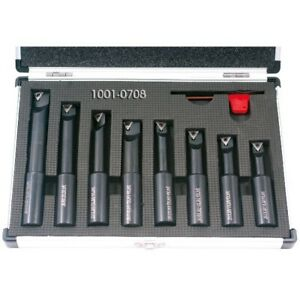 8 Piece 3 4 Round Shank Indexable Boring Bar Set 1001 0708