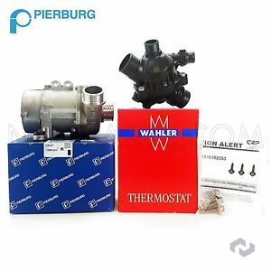 Pierburg Electric Engine Water Pump Oem Thermostat 3 bolt Kit For Bmw