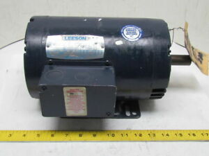 Leeson C145t34db13b 3ph Ac Electric Motor 3hp 3450 Rpm 208 230 460v H145t Frame