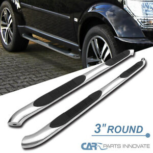 For 07 12 Dodge Nitro 3 Polished Stainless Side Step Nerf Bars Running Boards