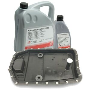 Oem Zf Automatic Transmission Filter Kit Oil Pan And 6 Liters Trans Fluid