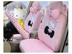 New Hello Kitty Car Seat Covers Accessories Set 18pcs Tl a3