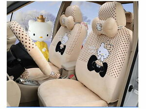 New Hello Kitty Car Seat Covers Accessories Set 18pcs Tl a4