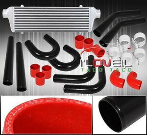 Bar Plate Fmic Front Mount Intercooler 65mm Turbo Aluminum Pipes Piping Kit