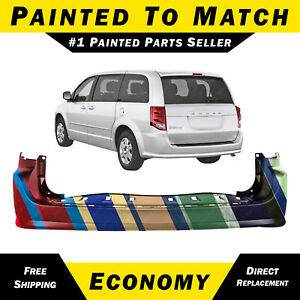 New Painted To Match Rear Bumper Cover 2011 2018 Dodge Grand Caravan 68125724aa