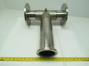 4 Stainless Steel Sanitary Pipe Tee Fitting Assembly