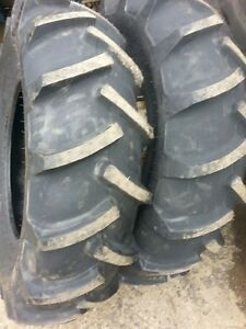 Two 14 9x24 New Holland Tubeless 8 Ply Easy Repair Tractor Tires