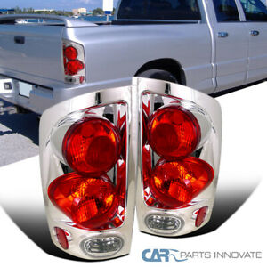 2002 2006 Dodge Ram 1500 2500 3500 Pickup 3d Chrome Tail Lights Rear Lamps Pair