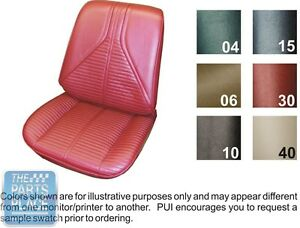 67 Skylark Gs Special Deluxe Black Front Bucket Seat Covers