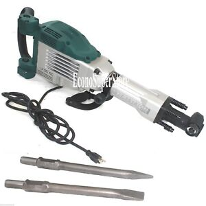 1800 Watt Electric Demolition Jack Hammer Concrete Breaker Punch W 2 Chisel Bits