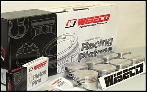 Sbc Chevy 383 Wiseco Forged Pistons Rings 4 040 Flat Top Uses 6 Rods Kp451a4