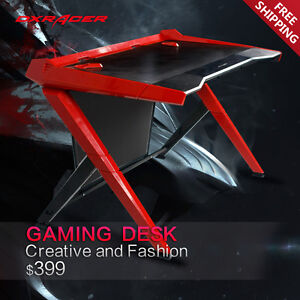 Dxracer Office Desk Gaming Desk Comfortable Table Computer Desks Gd1000nr