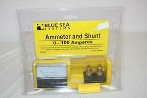 Blue Sea Systems 8017 Dc Ammeter And Shunt 0 100 Amperes New