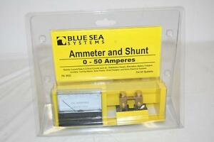 Blue Sea Systems 8022 Dc Ammeter And Shunt 0 50 Amperes New