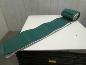 2 ply Green Pvc rubber Conveyor Belt Cleated flights 13 81 x29 Length Endless