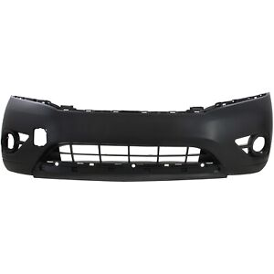 Front Bumper Cover For 2013 2014 Nissan Pathfinder W Fog Lamp Holes Primed Top