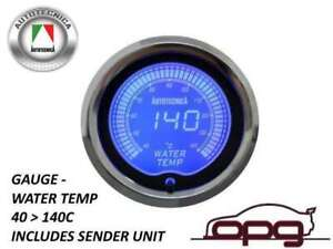 Performance Water Temp 52mm Lcd Gauge 7 Colour Lighting 1 Guage