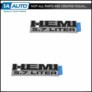 Oem Hemi 5 7 Liter Nameplate Emblem Pair Fender Mount For Dodge Ram 55078115aa