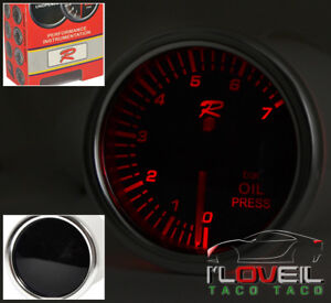 Vip Performance Oil Pressure Indicator Gauge 7 Color Led Smoke Bmw E36 E46 M3