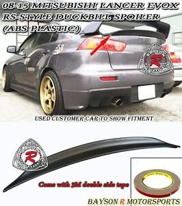 Rs style Rear Trunk Lip Spoiler Wing abs Fits 08 16 Mitsubishi Lancer Evo 10 X