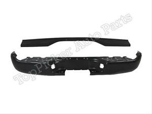 For Toyota 2005 2015 Tacoma Rear Step Bumper Face Bar Black Top Center Pad 2pcs