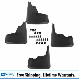 Oem Pt76989110 Splash Guard Mud Flaps Black Plastic Set Of 4 For 10 14 Toyota
