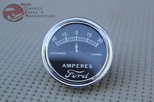 Model A Instrument Panel Amp Meter Guage Dial Ford Script Logo 30 0 30 Hotrod