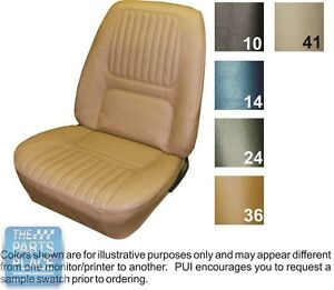 1970 Camaro Standard Bright Blue Front Bucket Seat Covers Coupe Rear Pui