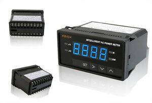 Programmable Digital Blue Ac Single Phase Power Watt Meter With Control