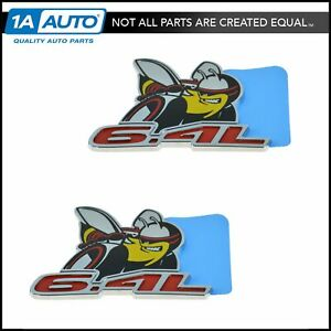 Oem Emblem Nameplate Pair Set Of 2 Fender Mount For Dodge Challenger S