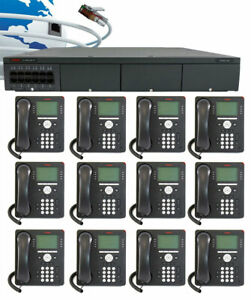 Avaya Ip500 V2 Digital Voip Phone System Package W 12 9508 Phones