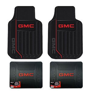 New Gmc Elite Series Car Truck Front Rear All Weather Rubber Floor Mats