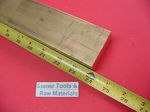 1 X 2 C360 Brass Flat Bar 24 Long Solid 1 00 Plate Mill Stock H02