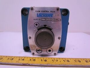 Vickers Fcg 03 28 22 s10 Manifold Mounted Keyed Hydraulic Flow Control Valve
