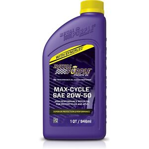 Royal Purple 01316 20w50 Max Cycle Synthetic Motorcycle Engine Oil 6 Quarts Tx