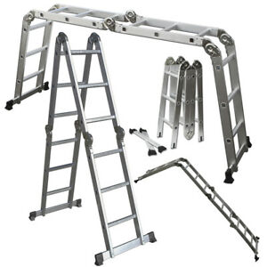 Scaffold Ladder Heavy Duty Giant Aluminum 12 5 Feet 330lb Multi Purpose Extend
