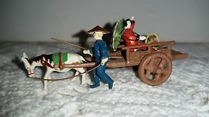 Japan Miniature 1 5 X 3 X 1 5 Metal Wagon W Lady Passenger 150203014