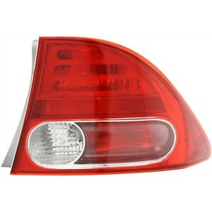 Tail Light For 2006 2008 Honda Civic Passenger Side Outer Sedan