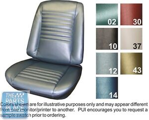 1967 Chevelle Bright Blue Front Buckets Seat Covers Pui